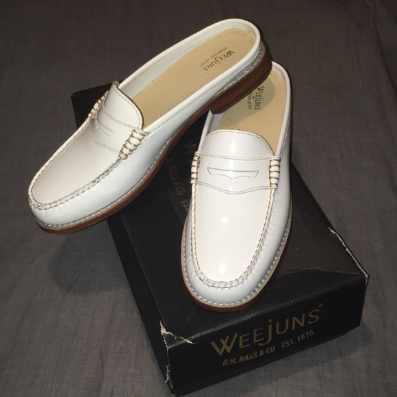 448a599839a G.H. Bass Wynn Weejuns Leather Loafers Mules Sz 8